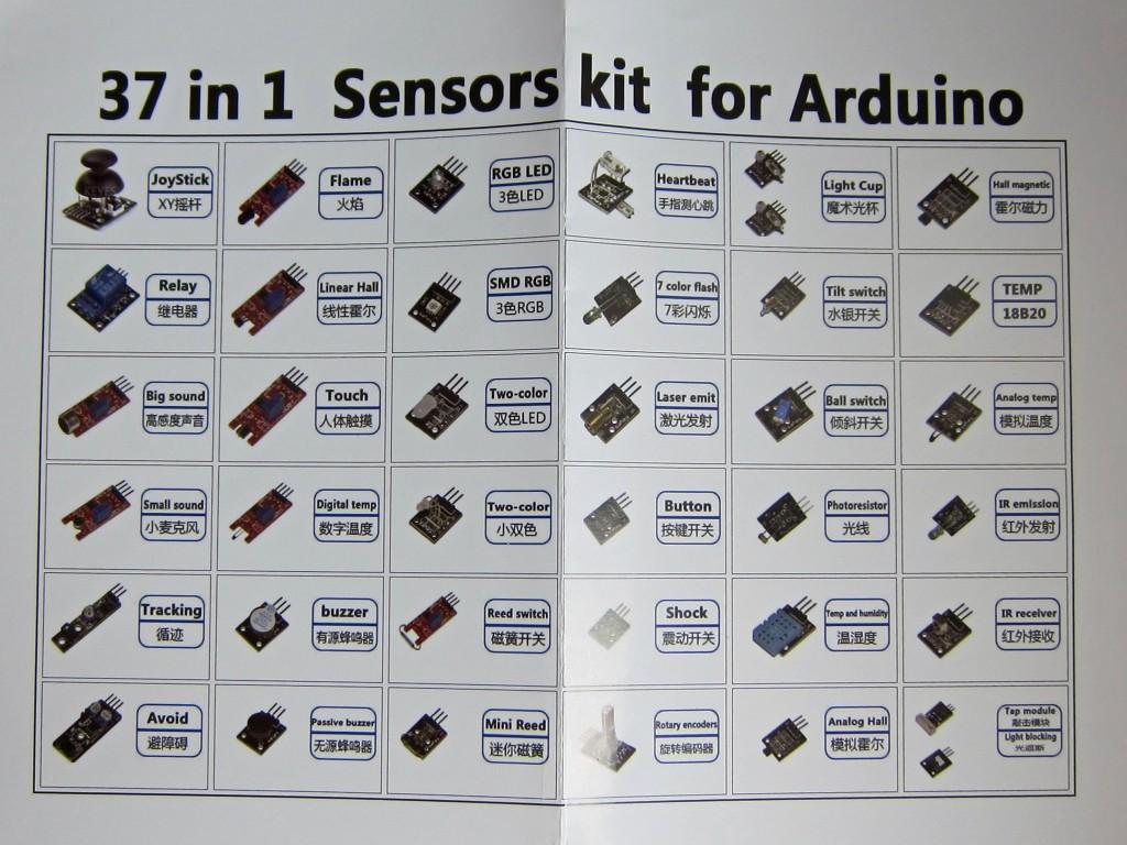 Arduino kits components i o sensors